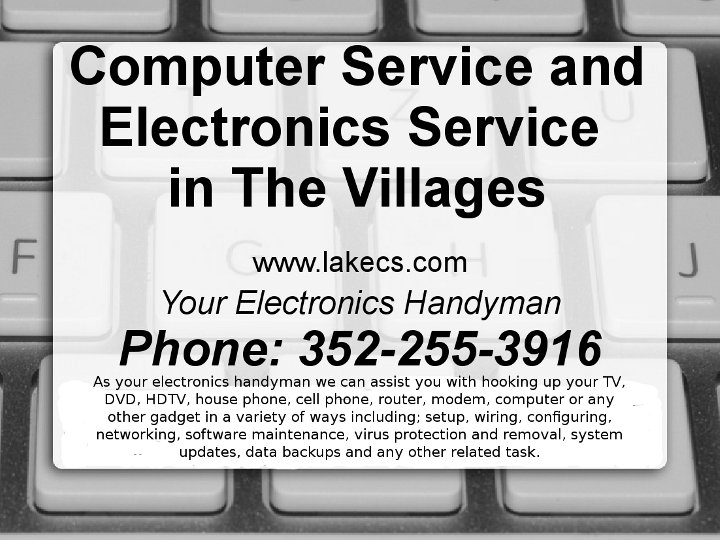 Lake Computer Specialists printable PDF sign thumbnail.